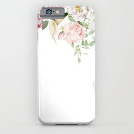 Vintage & Shabby Chic - Blush Antique Roses Frame iPhone Case
