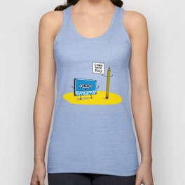 Tape loves pencil Unisex Tank Top