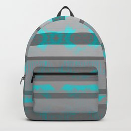 Southwestern Turquoise and Gray Backpack