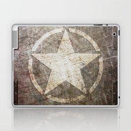 Army Star on Distressed Riveted Metal Door Laptop & iPad Skin