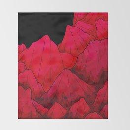 Rose red Rocks Throw Blanket