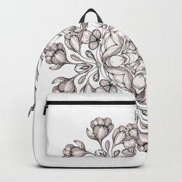 light broun flowers mandala Backpack