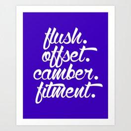 flush offset camber fitment v6 HQvector Art Print
