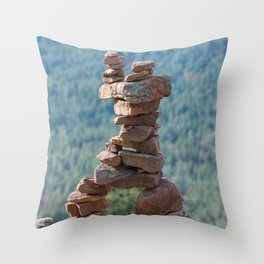 Military Sinkhole Scenic Outlook Rock Figure Throw Pillow