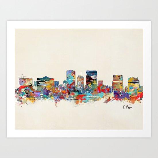 El Paso Texas Art Print