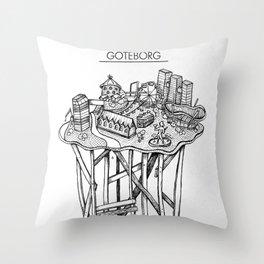 Göteborg Throw Pillow