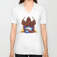 smaug V-neck T-shirts featuring Smaug by YattaGiulia