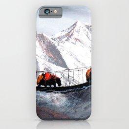Herd Of Mountain Yaks Himalaya iPhone Case