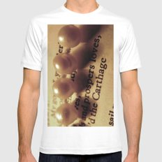 Words number 1 Mens Fitted Tee White MEDIUM