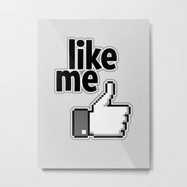 Like Me Pattern Metal Print