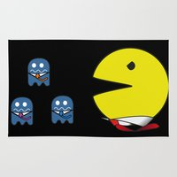 pacman Area & Throw Rugs featuring pacman effect by Capadochio