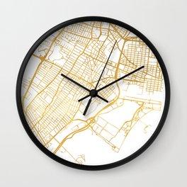 JERSEY CITY NEW JERSEY STREET MAP ART Wall Clock