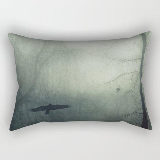 world wrapped in mist Rectangular Pillow
