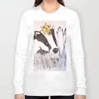 badger Long Sleeve T-shirts featuring Badger by Meredith Sweeney