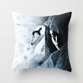 Voiles et dentelles Throw Pillow