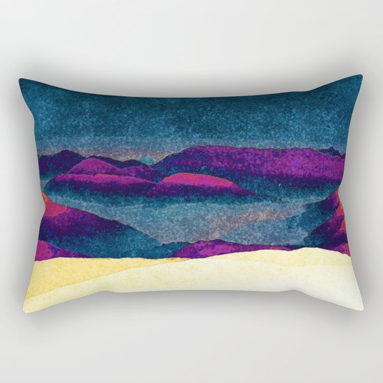 Colorful Mountains Landscape Rectangular Pillow