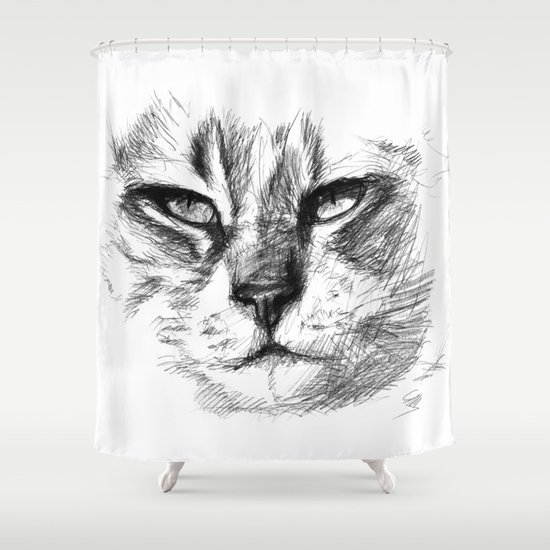 Cat sk125 Shower Curtain