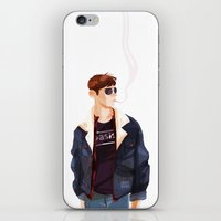 finn iPhone & iPod Skins featuring Finn by Galaxyspeaking