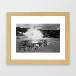 Hot spring Framed Art Print