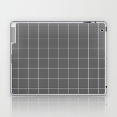 Grey and White Grid Laptop & iPad Skin