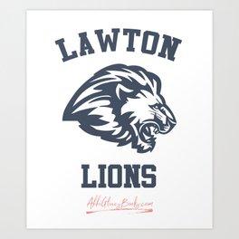 The Field Party - Lawton Lions Art Print