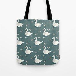 Watercolor Swan Tote Bag