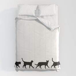 Kitty Conga Line Comforters