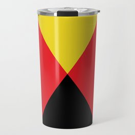Other Rhombuses, one on another, floating in a red sea. Travel Mug