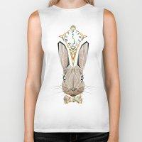 rabbit Biker Tanks featuring rabbit by Manoou