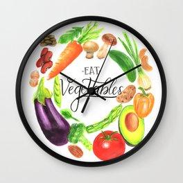 Eat vegetables Wall Clock