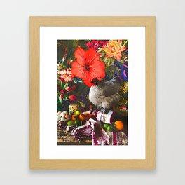 Still Life with Fat Chicken (Watercolor) Framed Art Print