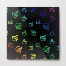 Colourful Minimal Fingers Metal Print