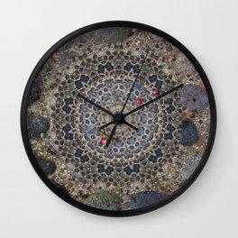 Stonework Mandala Wall Clock