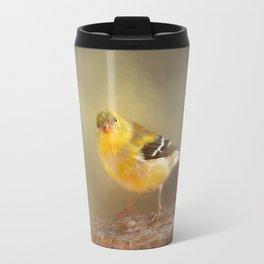 Winter Goldfinch Travel Mug
