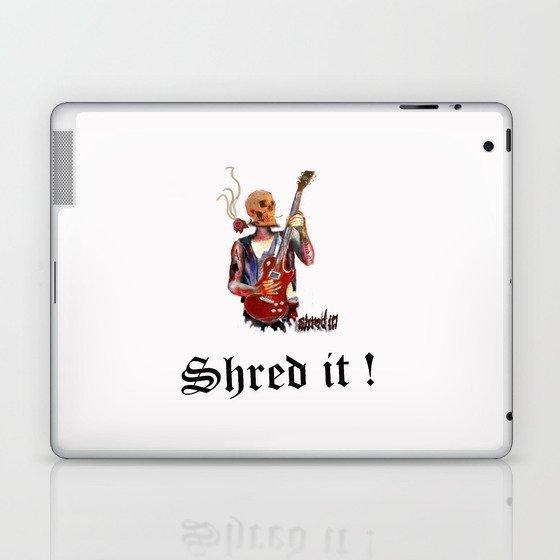Shred it Skull guitar player  Laptop & iPad Skin