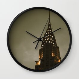 Chrysler Building at Twilight Wall Clock