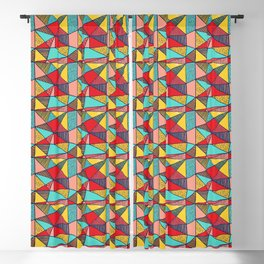 Colorful Geometric Abstract Pattern Blackout Curtain