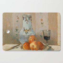 Camille Pissarro - Still Life with Apples and Pitcher (1872) Cutting Board