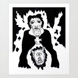 Hidden Head Art Print