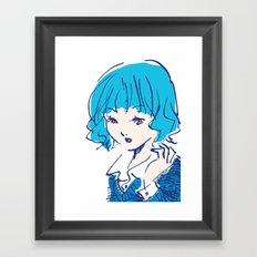 SHANNON GOT A NEW HAIR STYLE Framed Art Print