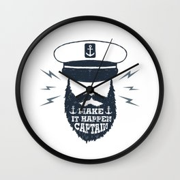 Make It Happen Captain Wall Clock