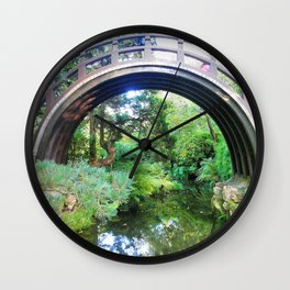 Bridge of serenity Wall Clock