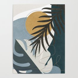 Abstract Tropical Art II Poster