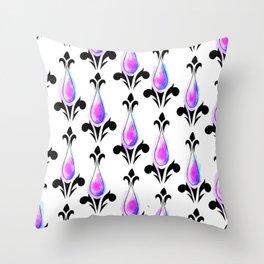 Purple Splash Pattern Throw Pillow