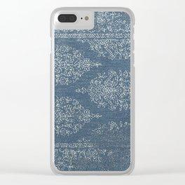 Blue Tear Drops Clear iPhone Case