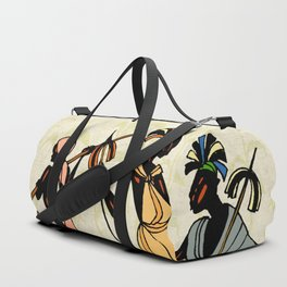 Man ethic african people collage Duffle Bag