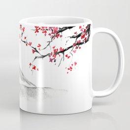 Sunset Over Mt Fuji Coffee Mug