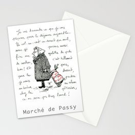 A Few Parisians: Marché de Passy by David Cessac Stationery Cards