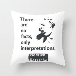 Friedrich Nietzsche quote Throw Pillow