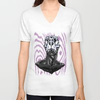 trex V-neck T-shirts featuring TREX: MALE by Marques Cannon